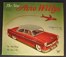 1952 Willys Aero Ace & Wing Sales Brochure Folder Nice Original 52