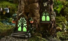 Glow in Dark Fairy Door and Window Resin Faerie Village Giftcraft Woodland New