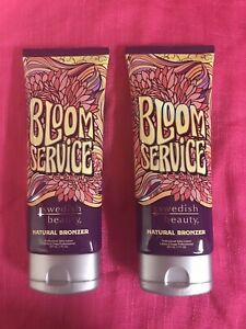 Swedish Beauty BLOOM SERVICE NATURAL Bronzer Tanning Lotion 100% Auth Lot Of 2
