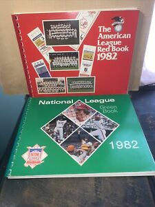lot of 2 American League Red Book + National League Green Book MLB 1982
