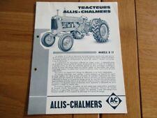 CATALOGUE  TRACTEUR  ALLIS CHALMERS MODELE D17 - ED40 - 1960 AGRICOLE