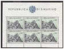 SAN MARINO 1958 - SHEET OF STAMPS VEDUTE NEW