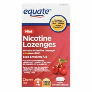 Equate Mini Cherry Nicotine Lozenges Ice Flavor, 2 mg, 108 Count 11/22