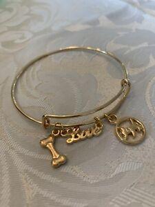 Handmade Fashion Bracelet Gold Bone Dog Love Adjustable Gift