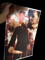 "Michael Myers rare METALLIC FOIL PRINT Halloween ""The Curse of Thorne"" 11 x 17"