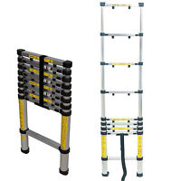 Silverline Telescopic Ladder 9 Rung Lightweight Aluminium 2.6m Height
