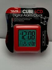 TZUMI Cube LCD Digital Alarm Clock - Red Brand New