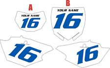 2014-2018 Yamaha WR250F Pre-Printed White Backgrounds with Blue Numbers