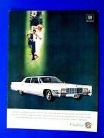 """1969 Cadillac Fleetwood Brougham Original Print Ad 8.5 x 11"""""""
