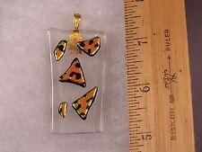 Leopard Spots Animal Print Glass Pendant GA01 Fred Flintstone Look!