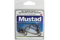 Mustad Ball Bearing Swivels With Welded Ring & Cross-Lock Snap NEW @ Otto's Tack