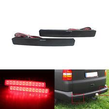 2X Rot LED Stoßstange Reflektor Bremslicht Rücklicht VW T5 Transporter Multivan