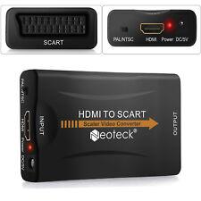 1080P HDMI vers PÉRITEL Audio Vidéo Adaptateur Convertisseur Câble USB pour HDTV