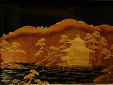 """19"""" W MARKED Zohiko JAPANESE SHOWA PERIOD MAKIE LACQUERED WOOD TRAY"""