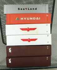 (6) Athearn 40' Containers Various Roadnames HO Scale 1/87
