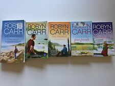 Lot of 5 books by Robyn Carr - Thunder Point novels, Four Friends, Tis the Seaso