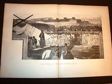 Stampa enorme del 1891 Partenza di Attilio Regolo di Cesare Maccari Senato Roma