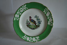 Copeland Spode Plate with Green and White Border with Game Bird    #2012