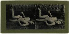 Photo Stéréo Jeune Femme Nue Nude Curiosa Vers 1910/20