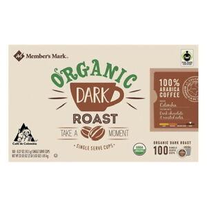 Members Mark Organic Dark Roast Coffee 100 Single Serve K Cups Pods