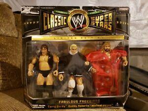 WWE Jakks Classic Superstars The Fabulous Freebirds Gordy Roberts Hayes 3 Pk MOC