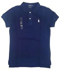 Ralph Lauren Polo Shirt Ladies SKINNY Fit Short Sleeve Navy S