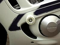 R&G White Classic Style Crash Protectors for Honda CBR600 1998
