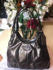 Coach 18760 Madison Maggie Patent Leather gunmetal  Hobo Bag (pu1300