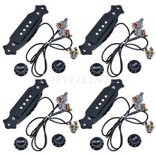 4 Pcs Pre-Wired Cigar Box Guitar Pickup with Volume & Tone for Electric Guitar