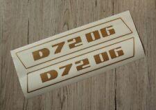 hasta 1974 Deutz pegatinas para tractor d7206 logotipo emblema sticker oro estrecha