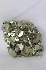 46) Pyrite Crystal Cube Formation Fools Gold Iron Great Gift - High Grade PERU