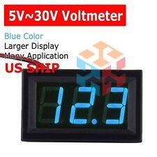 Mini Blue Dc 0 30v Led Display Digital Voltage Voltmeter Panel For Arduino
