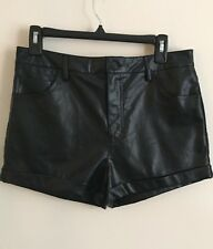 Forever 21 Black Leather Shorts New With Tags NWT Women's Size 28