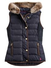 Joules Girls Alanis Hooded Quilted Gilet  - Marine Navy - 7-8 - 9-10 - 11-12