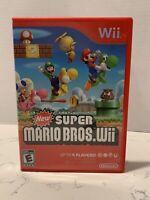 New Super Mario Bros Wii Nintendo Game Complete Manual Case Artwork Wii/WiiU