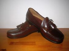 Men's 9 1/2 EE LL BEAN Dark Brown Leather Loafers