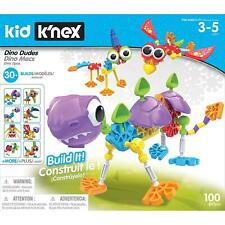 K'Nex Kid Dino Dudes Building Set With 100 Pieces - Fun & Colourful - 3-5 Years