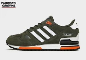 Adidas Originals ZX 750 Green White Orange MEN'S TRAINERS ALL SIZES Available
