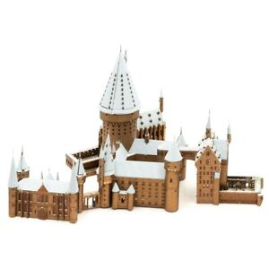 Harry Potter Hogwarts In Snow Iconx Premium Series 3D Laser Cut Metal Earth P...
