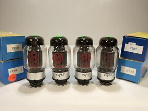 4 Vintage Used JJ Electronics KT-88 OO Getter Amplifier Tubes - Russia