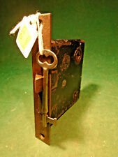 CHANTRELL TOOL CO.  MORTISE LOCK w/KEY - RECONDITIONED - WORKS GREAT (10384)