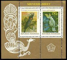 "INDONESIA 1166 - Native Birds ""Cockatoos"" Souvenir Sheet (pb17461)"