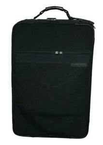 """Briggs & Riley 22"""" Black Rolling Carry On Expandable Garment Luggage Suitcase"""