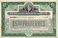 New England Gas & Electric Association stock certificate  1946