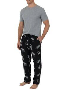 Fruit of the Loom moose pajamas pjs lounge set NWT mens' 4XL tee & fleece pants