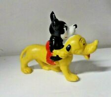Vintage 1939  MICKEY MOUSE & PLUTO Bisque Figurine WALT DISNEY Japan COPYRIGHT