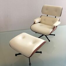 Mid century Modern Dollhouse Lounge Eames Chair  Reac 1:12 Scale Design Interior