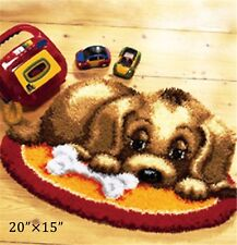 "Gex Latch Hook Kits Rugs 20""×15"" Craft Needle Cute Animals Puppy Rugs"