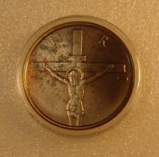 *Unique* and Rare 1 OZ Silver Shield SSG .999 fine TONED 2014 Crucifixion BU