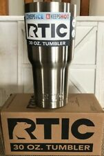 RTIC 30 Oz Stainless Steel Insulated Vacuum Tumbler Silver SAME DAY SHIPPING New